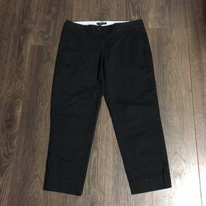 Tommy Hilfiger Black Cropped Straight Leg Pants